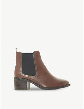 Dune Paramoor leather heeled chelsea boots