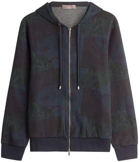 Etro Patchwork Paisley Print Hooded Sweatshirt