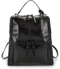 Vince Camuto Patent Leather Rectagular Backpack