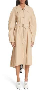 Awake Round Sleeve Coat with Polka Dot Back Panel