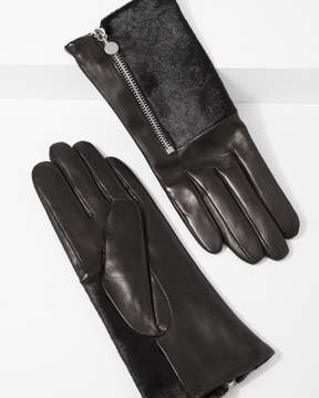 7 For All Mankind Amato Half Calf Hair Glove with Side Zipper in Black