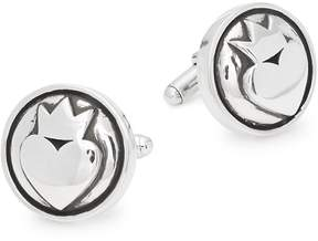 King Baby Studio Men's Heart Sterling Silver Cufflinks