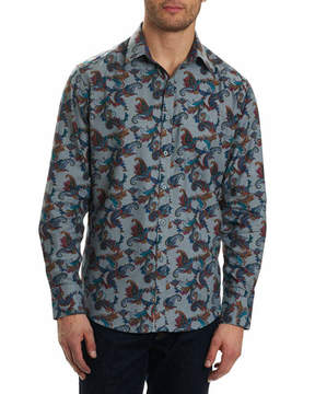 Robert Graham Massif Scroll-Print Sport Shirt