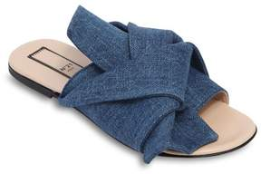 N°21 Denim Slide Sandals