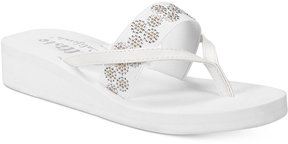 Callisto Lush Embellished Wedge Sandals Women's Shoes