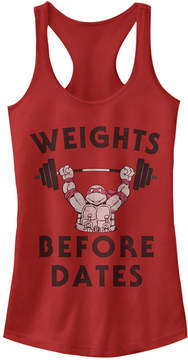 Fifth Sun Red TMNT 'Weights Before Dates' Racerback Tank - Juniors