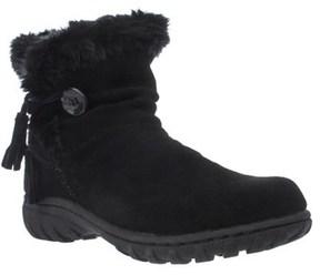 Khombu Isabella Memory Foam Short Winter Boots, Black.
