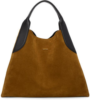 Lanvin Brown Suede Large Cabas Tote