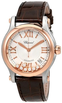 Chopard Happy Sport Silver with Seven Floating Diamonds Dial Ladies Watch