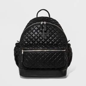 Mossimo Women's Quilted Metallic Faux Suede Backpack Black