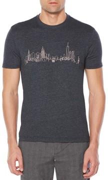 Original Penguin Men's Embroidered Nyc Skyline T-Shirt