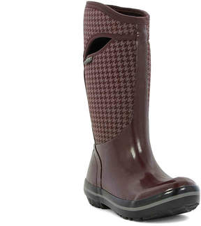 Bogs Women's Plimsoll Houndstooth Tall Rain Boot