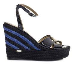 Sonia Rykiel Women's Blue/black Patent Leather Sandals.