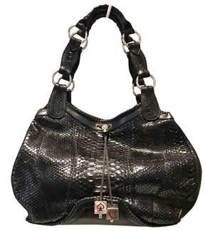 Alexander McQueen Black Python Handbag