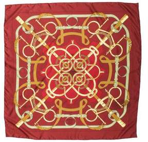 Hermes Eperon d'Or Silk Scarf