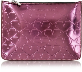 Mary Katrantzou Laminated Leather Pouch w/Stars