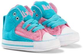 Converse Blue and Pink Chuck Taylor All Star First Star High Street Hi Tops