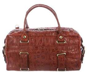 Theory Embossed Leather Satchel