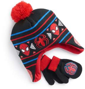 Marvel Toddler Boy Spider-Man Trapper Hat & Mittens Set