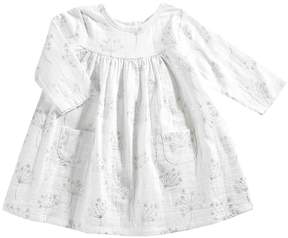 Aden Anais aden + anais - Long Sleeve Pocket Dress Girl's Dress