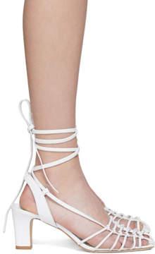 Maryam Nassir Zadeh White Calfskin Maribel Sandal