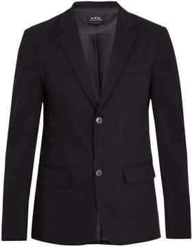 A.P.C. Burbank single-breasted cotton-twill blazer