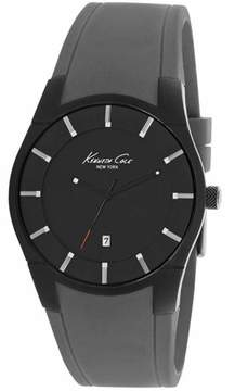 Kenneth Cole Men's Grey Silicone Strap Watch 10027723