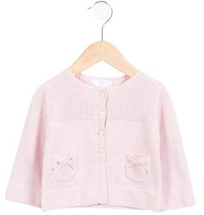 Jacadi Girls' Knit Bow-Accented Cardigan w/ Tags