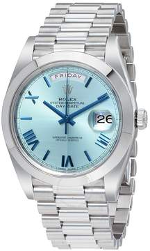Rolex Day-Date Automatic Ice Blue Dial Platinum Men's Watch