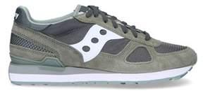 Saucony Men's Green Suede Sneakers.