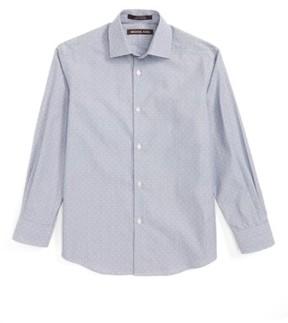 Boy's Michael Kors Stripe Neat Dress Shirt