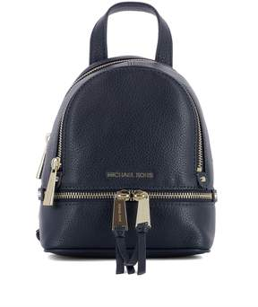 Michael Kors Blue Leather Backpack - BLUE - STYLE