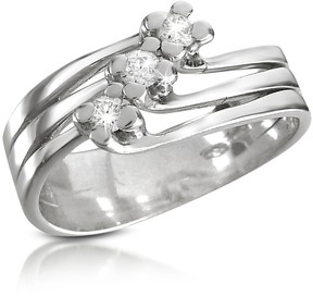 Forzieri 0.12 ct Three-Stone Diamond 18K Gold Ring