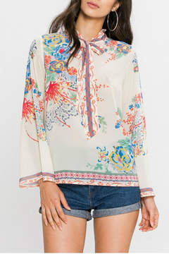 Flying Tomato Floral Print Blouse