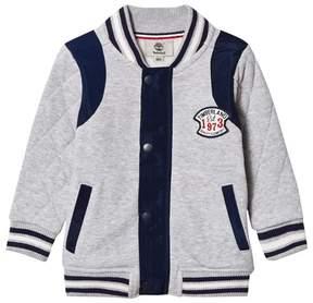 Timberland Grey Marl Branded Sweat Bomber Jacket
