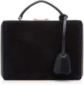 Mark Cross Grace Small Leather-Trimmed Suede Shoulder Bag