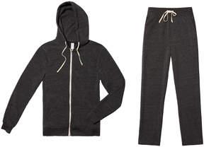 Alternative Apparel Do The Hustle Hoodie & Pants Bundle in Eco Black, Medium