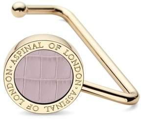 Aspinal of London | Handbag Hook In Deep Shine Lilac Croc | Deep shine lilac small croc