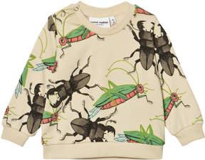 Mini Rodini Beige Insects Sweatshirt