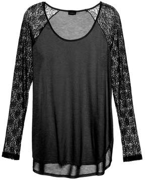 Cosabella | Arizona Sleep Long Sleeve Top | L | Black