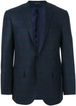 Corneliani checked single breasted blazer