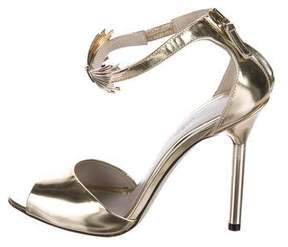 Jason Wu Metallic Leather Ankle Strap Sandals