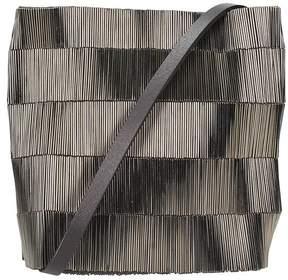 Rick Owens Small Adri Bag In Gray Fabric