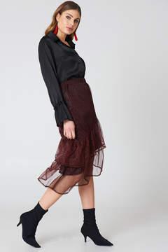 NA-KD Na Kd Bottom Frill Glitter Skirt