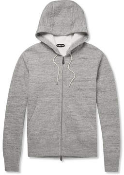Tom Ford Knitted Cotton-Blend Zip-Up Hoodie