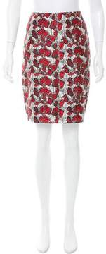 Rodarte Printed Pencil Skirt