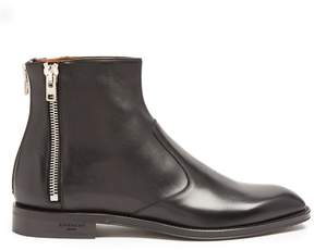 Givenchy Zip-trimmed leather chelsea boots