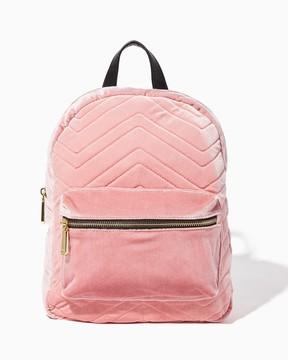 Velvet Chevron Backpack