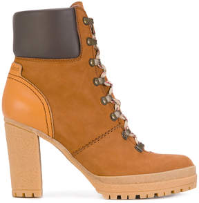 See by Chloe heeled hiking booties