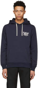 Saturdays NYC Navy Ditch Miller Logo Hoodie
